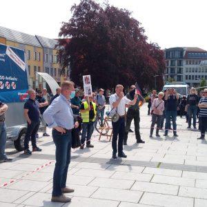 Bautzen Kornmarkt Protest gegen falsche Corona-Politik der Regierung