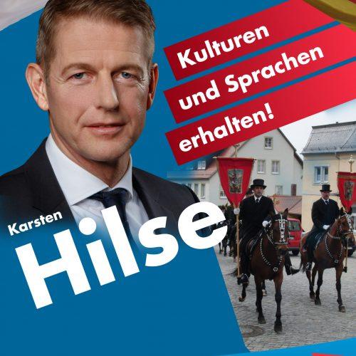 Plakat A1 Thema Sorbisch - Kulturen und Sprachen erhalten